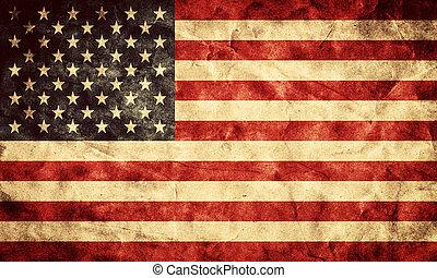 גראנג, ארהב, flag., בציר, פריט, דגלים, ראטרו, אוסף, שלי