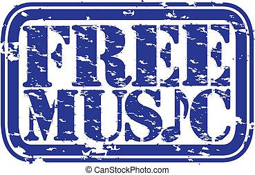 גראנג, ביל, חינם, גומי, מוסיקה, vec
