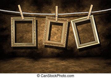 גראנג, זהב, צרה, צילום, רקע, מסגרות