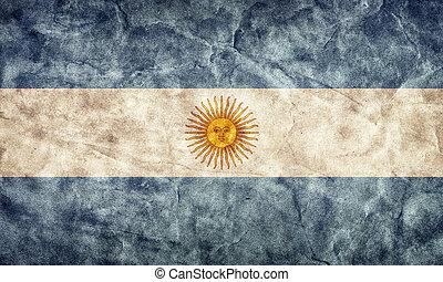גראנג, flag., אוסף, בציר, פריט, דגלים, ראטרו, ארגנטינה, שלי
