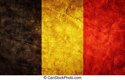 גראנג, flag., אוסף, בציר, פריט, דגלים, ראטרו, בלגיה, שלי