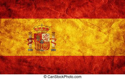 גראנג, flag., אוסף, בציר, פריט, דגלים, ראטרו, שלי, ספרד