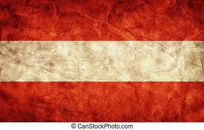 גראנג, flag., בציר, פריט, אוסטריה, דגלים, ראטרו, אוסף, שלי