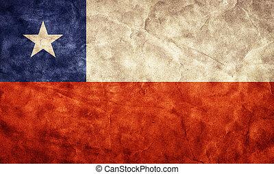 גראנג, flag., בציר, פריט, דגלים, ראטרו, צ'ילה, אוסף, שלי