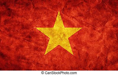 גראנג, flag., בציר, פריט, ויטנאם, דגלים, ראטרו, אוסף, שלי