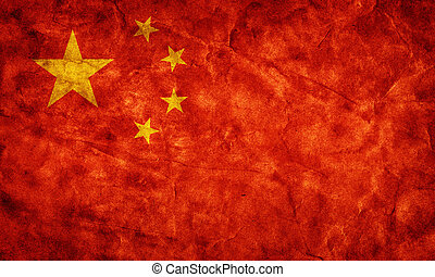גראנג, flag., בציר, פריט, סין, ראטרו, אוסף, דגלים, שלי