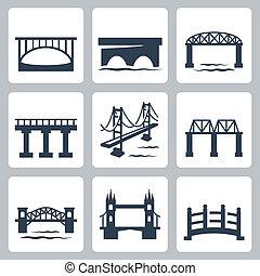 גשרים, וקטור, קבע, הפרד, איקונים