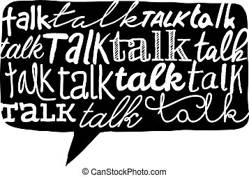 דבר, טקסטורה, מעל, בעבע, נאום, מילה