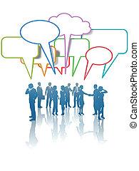 דבר, עסק של אנשים, רשת, תקשורת, תקשורת, צבעים