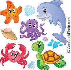 דגים, 3, בעלי חיים, ים, אוסף