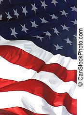 דגל אמריקאי, זקוף, הבט