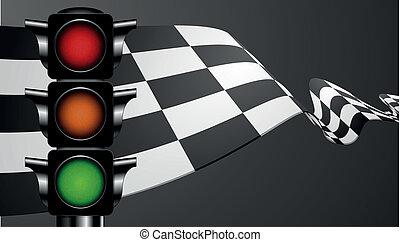 דגל ירוק, לרוץ, אור