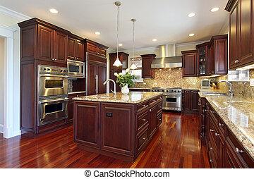 דובדבן, עץ, cabinetry, מטבח