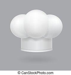 דוגמה, טבח, מציאותי, כובע לבן, איקון