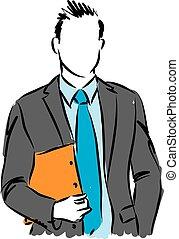 דוגמה של איש, עסק, וקטור