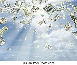 דולרים, גשם