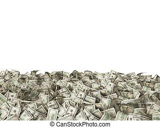 דולרים, הפרד, שטרות בנק, 100, לבן, הארק