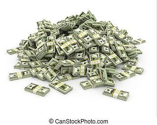 דולרים., לגוז, כסף, אורז