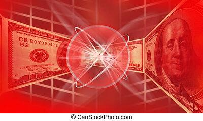 דולרים, רקע אדום