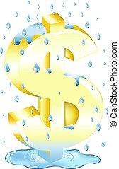 דולר, גשם, חתום