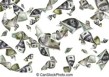 דולר, הפרד, רקע, לפול, חשבונות, לבן