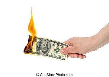 דולר, להשרף