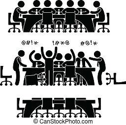 דיון, פגישה, עסק, איקון