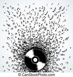 דיי ג'יי, רואה, הקלט, התז, מוסיקה, וייניל