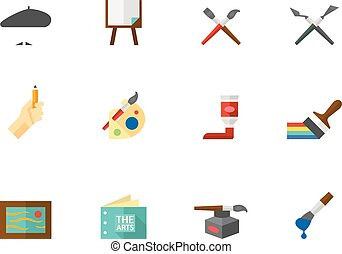 דירה, ארטיס, איקונים, צבע, -, לצבוע