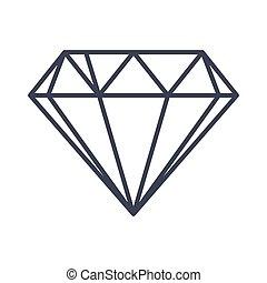 דירה, סיגנון, יהלום, תאר, דוגמה, וקטור, icon.