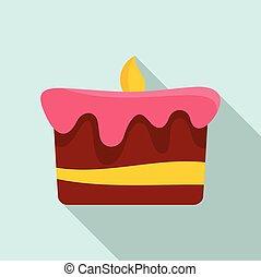 דירה, עוגה, איקון, יום הולדת, סיגנון