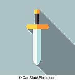 דירה, צל, חרב, ארוך