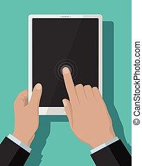 דירה, tablet-pc, מושג