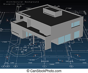 דיר, דגמן, וקטור, אדריכלות, blueprint.