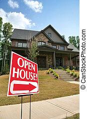 דיר, חתום, חדש, חזית, בית, פתוח