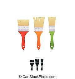 דיר, מיברשות, דקורטור, צבעוני, צייר, handles.