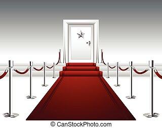 דלת, אדום, להוביל, שטיח