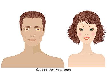 דמויות, הפרד, אישה של איש, עצב
