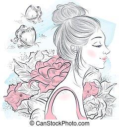 דמות, אישה יפה