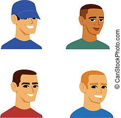 דמות, גברים, avatar, ציור היתולי