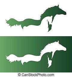 דמות, וקטור, שני, horse.