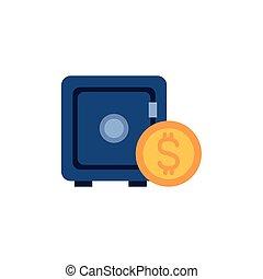 דמות, כסף, סיגנון, קופסה, כספת, דירה