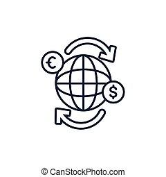 דמות, עולם, החלף, כסף, קו