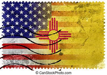 דמי-דואר, ישן, ארהב, מקסיקו, ביל, -, צין דגל, חדש