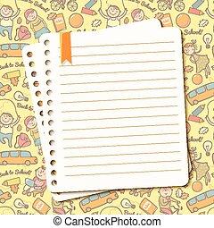 דף, טקסט, קרע, מחברת, וקטור, רקע, ילדים