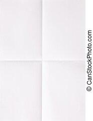 דף, נייר, לבן
