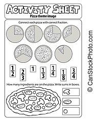 דף, פיצה, פעילות, תימה, 1