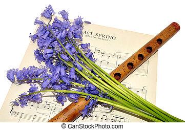 דף, פרחים, מוסיקה, בלאאבאל