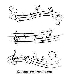 דף, רואה, מוסיקה, מוסיקלי