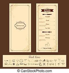 דפוסית של תפריט, כרטיס